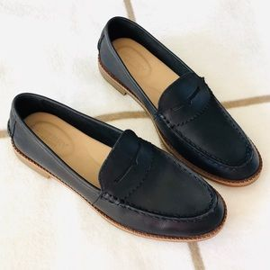 Sperry Seaport Black Leather Loafers 7